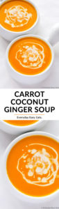 Carrot Coconut Ginger Soup | Recipe at EverydayEasyEats.com