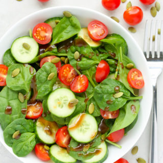 Cherry Tomato Spinach Salad