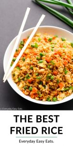 Chinese Fried Rice collage with title text overlay.