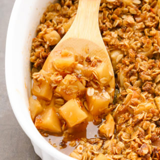 Easy Gluten-Free Apple Crisp with Oats (No Flour Needed!)