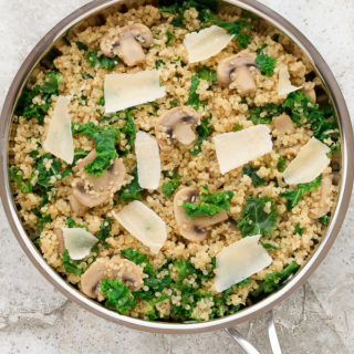 Easy One-Pan Mushroom Kale Quinoa (Vegetarian, GF)