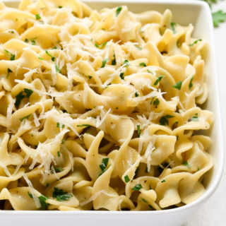 Buttered Egg Noodles with Parmesan