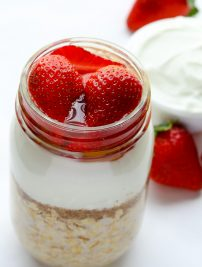 Strawberry Overnight Oats with Greek Yogurt