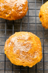 Pumpkin Spice Cookies - These soft, cake-like cookies are the perfect way to celebrate the fall and welcome the warmth of the holidays. | EverydayEasyEats.com
