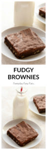 Rich, chewy, Fudgy Brownies made from scratch. Perfect for gifting during the holiday season. | EverydayEasyEats.com
