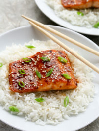 Baked Honey Sriracha Salmon