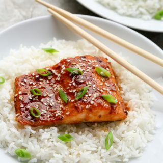 Healthy Baked Honey Sriracha Salmon