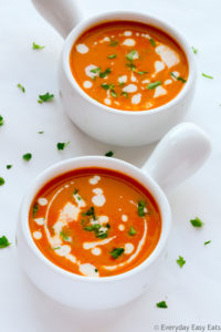 Easy Creamy Tomato Soup   Recipe at EverydayEasyEats.com