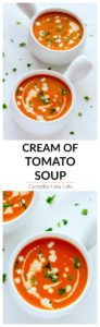 This rich, smooth Cream of Tomato Soup packs tons of flavor in each spoonful. Serve on its own or with a sandwich or salad for a satisfying meal.   EverydayEasyEats.com
