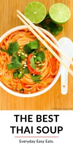 Thai Spicy Noodle Soup image with title text overlay.