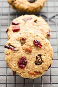 Fruit & Nut Breakfast Cookies. All-natural, vegan and gluten-free. | EverydayEasyEats.com