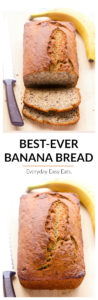 The only banana bread recipe you will ever need. Perfectly moist, bursting with banana flavor and blissfully simple to make. No electric mixer needed! | EverydayEasyEats.com