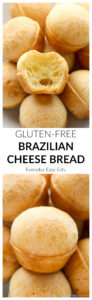 Brazilian Cheese Bread - A delicious gluten-free bread that is so easy to make. | Recipe at EverydayEasyEats.com