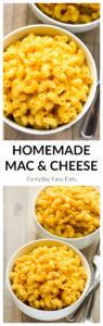 This Creamy Homemade Mac and Cheese Recipe is quick and easy to make on the stove top. The best macaroni and cheese ever! | EverydayEasyEats.com #macandcheese #easyrecipe
