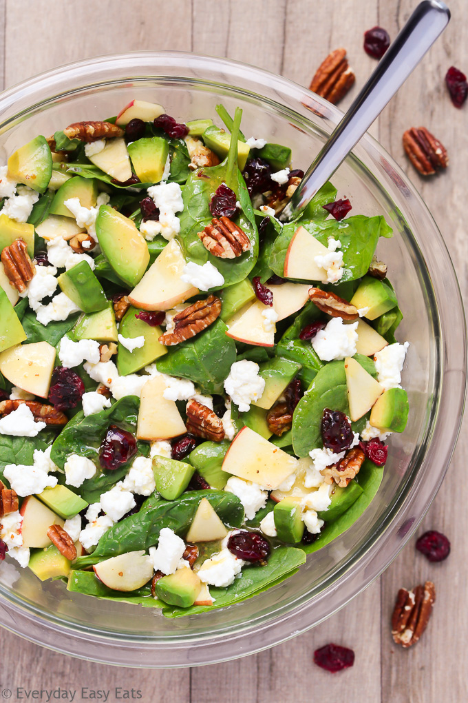 Apple Avocado Spinach Salad Everyday Easy Eats