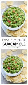 Basic Guacamole Recipe - Easy, healthy and ready in 5 minutes! | EverydayEasyEats.com