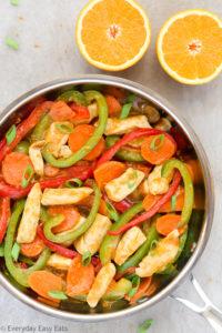 Healthy Orange Chicken Stir-Fry Recipe with Vegetables | EverydayEasyEats.com