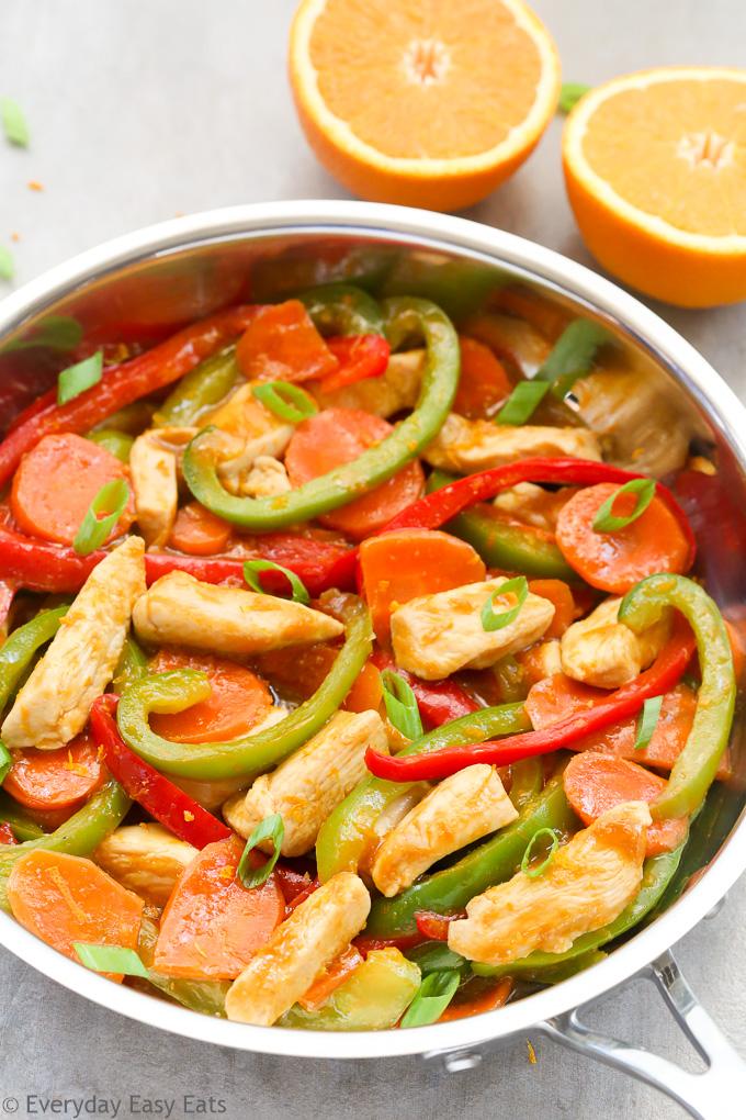 Healthy Orange Chicken Stir-Fry Recipe with Vegetables   EverydayEasyEats.com