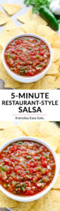 Easy 5-Minute Restaurant-Style Salsa | Recipe at EverydayEasyEats.com