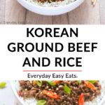 Easy Korean Ground Beef and Rice | Recipe at EverydayEasyEats.com