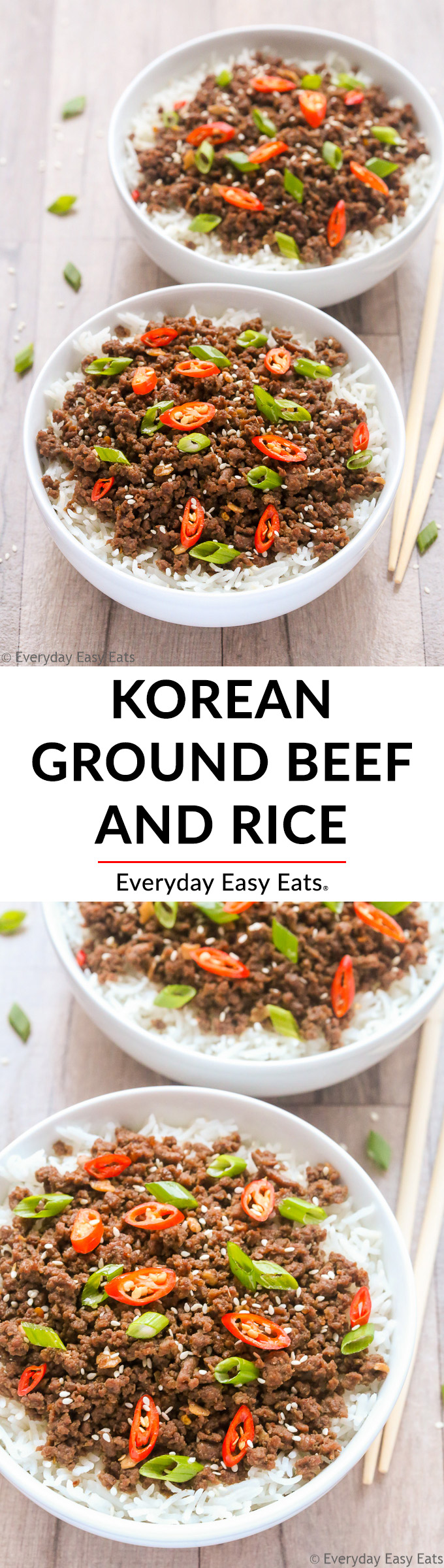 Easy Korean Ground Beef and Rice | Recipe at EverydayEasyEats.com
