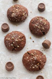 Easy Rolo-Stuffed Chocolate Cookies Recipe   EverydayEasyEats.com