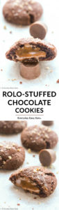 Easy Rolo-Stuffed Chocolate Cookies | Recipe at EverydayEasyEats.com