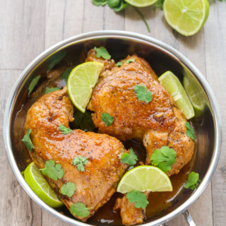 Healthy Skillet Honey Lime Chicken