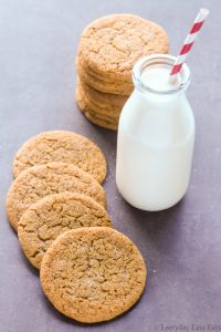 Easy Soft and Chewy Ginger Molasses Cookies | Recipe at EverydayEasyEats.com