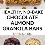 Healthy No-Bake Chocolate Almond Granola Bars | Recipe at EverydayEasyEats.com