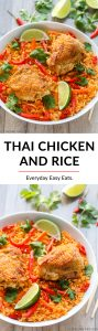 Thai Chicken and Rice | Recipe at EverydayEasyEats.com