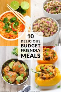 10 Easy Budget-Friendly Meals collage with title text overlay