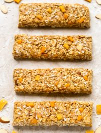 Healthy Mango Coconut Granola Bars