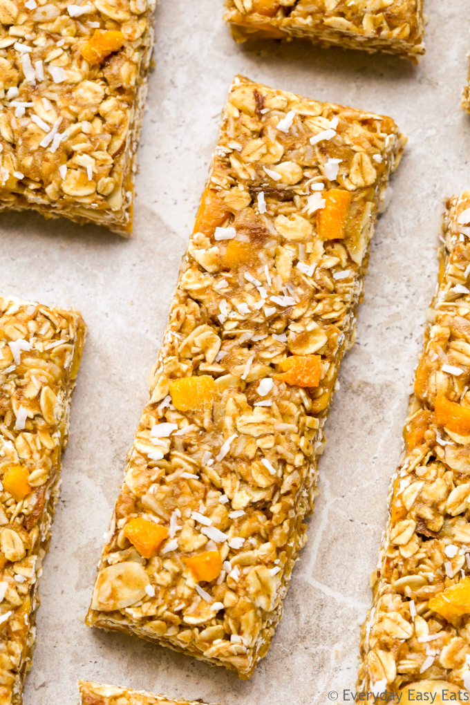 Healthy No-Bake Granola Bar Recipes: Mango Coconut Granola Bars