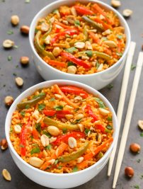 Thai Coconut Curry Rice with Vegetables