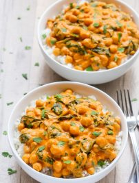 Indian Coconut Chickpea Curry (Vegan, GF)
