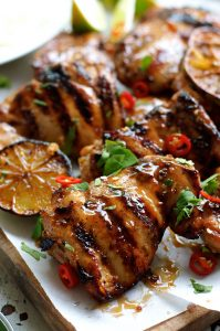 Healthy Grilling Recipes: Grilled Marinated Thai Chicken (Gai Yang)