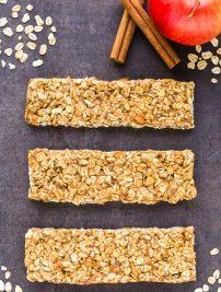 Healthy Apple Cinnamon Granola Bars