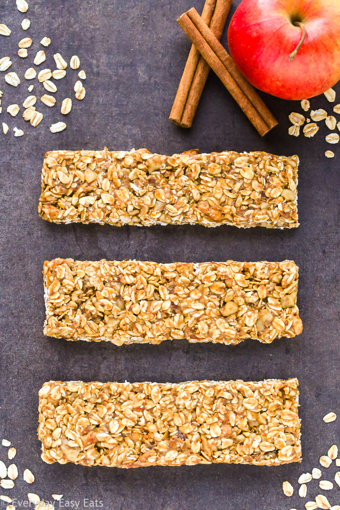 Healthy No-Bake Granola Bar Recipes: Apple Cinnamon Granola Bars