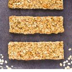 Healthy Apple Cinnamon Granola Bars collage with title text overlay.
