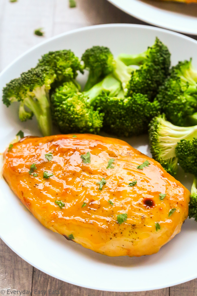 Healthy Baked Honey Mustard Chicken Breasts