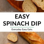 Spinach Dip collage with title text overlay.