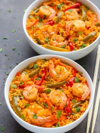 Thai Coconut Curry Shrimp and Rice