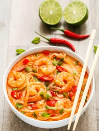 Thai Spicy Shrimp Noodle Soup