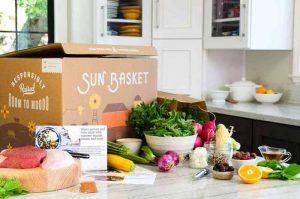 SunBasket Box on Kitchen Table