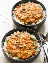 Indian Coconut Lentil Curry (Healthy & Vegan)