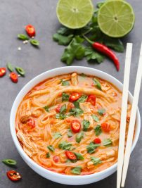 Thai Spicy Chicken Noodle Soup