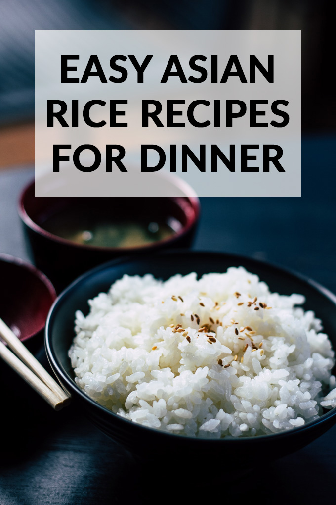 Easy Asian Rice Recipes for Dinner image with title text overlay