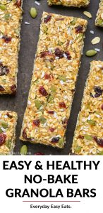 Healthy No-Bake Granola Bar Recipes image with title text overlay