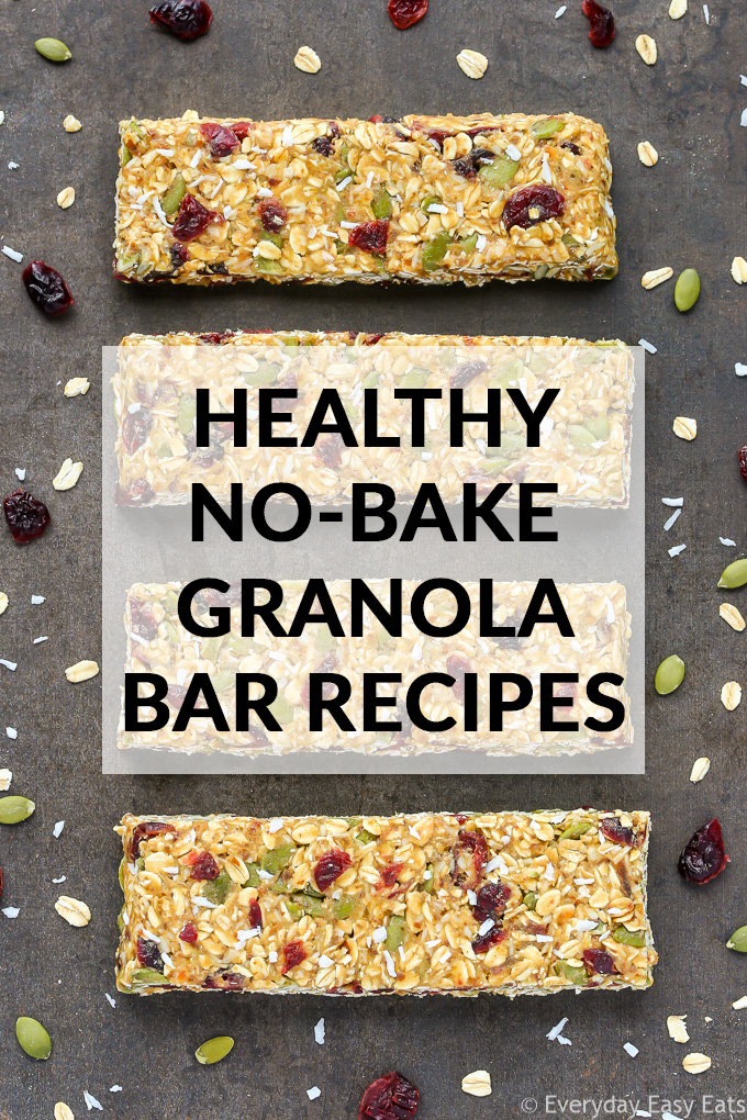 Healthy No-Bake Granola Bar Recipes